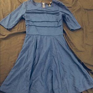 NWOT AQUA Blue Dress with Full Skirt Size S
